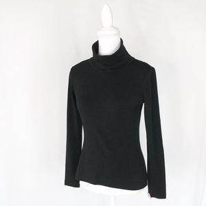 Diane Von Furstenberg black turtleneck sweater DVF